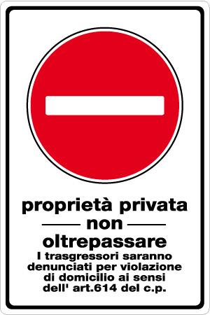 Cartello proprietà privata