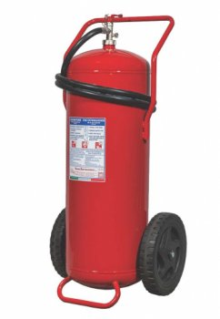 100 Kg Powder WHEELED FIRE EXTINGUISHER - A IV B C - MED 2014/90/UE- Code 16118