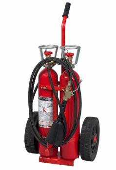 10 Kg Co2 Mobile Fire Extinguisher EN 1866-1 - PED - Model: 17103-1
