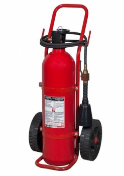 20 kg Co2 Wheeled Fire Extinguisher MED 2014/90/UE Code 14204