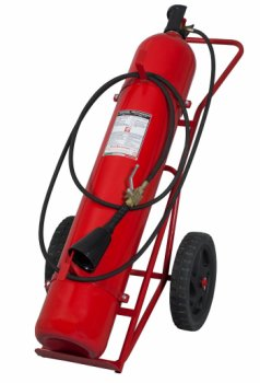 50 Kg Co2 Wheeled Fire Extinguisher MED 2014/90/UE model 14504