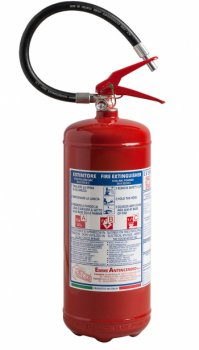 6 Kg Dry Powder Fire Extinguisher - 34 A 233 B C - EN 3-7 - Code 21063-77