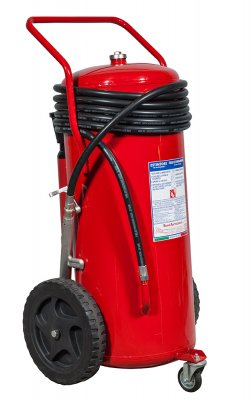 150 Kg Dry Powder Wheeled Fire Extinguisher kg 150 EN 1866-1 - D -  Code : 12159