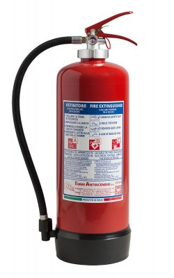 6 Kg Dry Powder Portable fire extinguisher - Model: 21063-40 - 34A 233BC - UNI EN 3-7