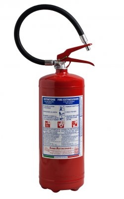 6 Kg Powder Fire Extinguisher UNI EN 3-7 - 21063-78 - Fire Rating 34 A 233 B C