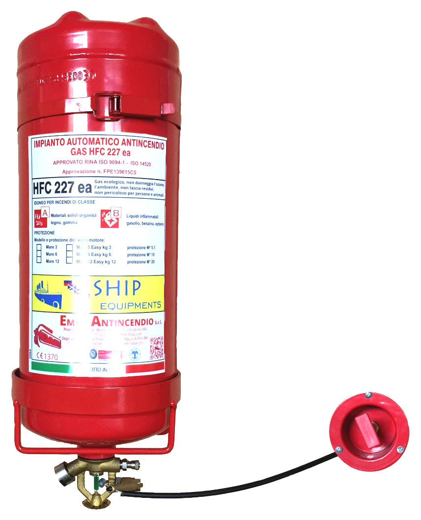 "Dispositivo antincendio automatico a gas HFC227 EA kg 3 ""Serie Mare"" 1892"